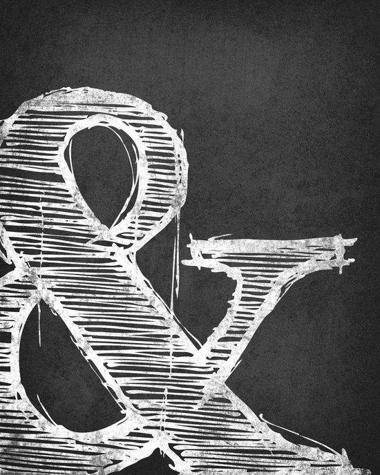 Ampersand. Grey Art Print