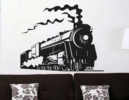 Steam Train Side View Wall Art Stickers Wall Decals Transfers In Home,  Furniture U0026 DIY, DIY Materials, Wallpaper U0026 Accessories