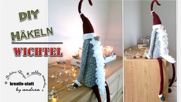 DIY Häkeln – Großer Wichtel, sitzend, ca. 50 cm. Mit dieser kostenlosen Häkel-Anleitung klappt das wunderbar. Viel Spaß beim KREATIV sein :-) lg Andrea  #diy #häkeln #wichtel #groß #weihnachten #anleitung #kostenlos #kreativ-statt-andrea #kstatta #crochet #witch #great #pattern #fre