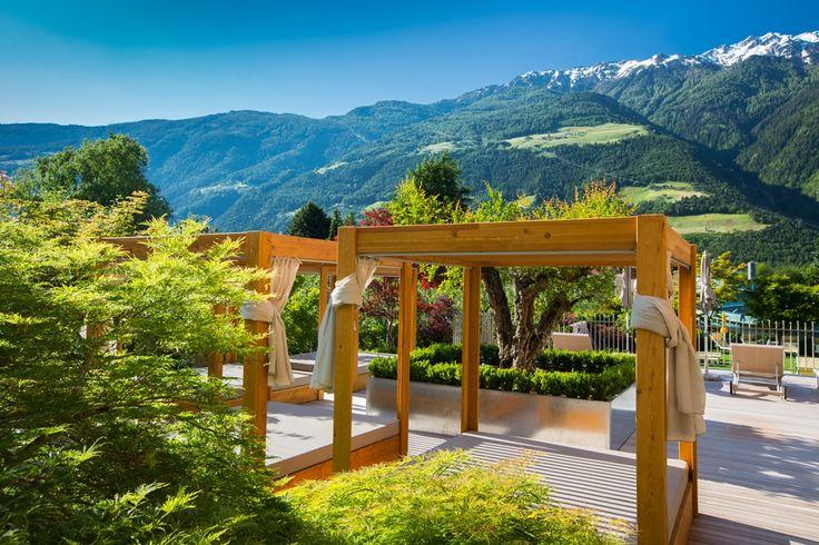 Kuschelliegen im Hotel Feldhof Naturns