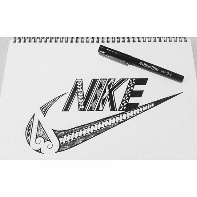 Nike logo I designed, follow me Instagram @_dorarose_ for more of my designs.