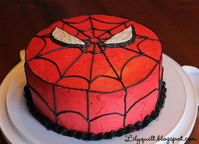 Lilyquilt: Spider-Man Birthday Cake (Tutorial)