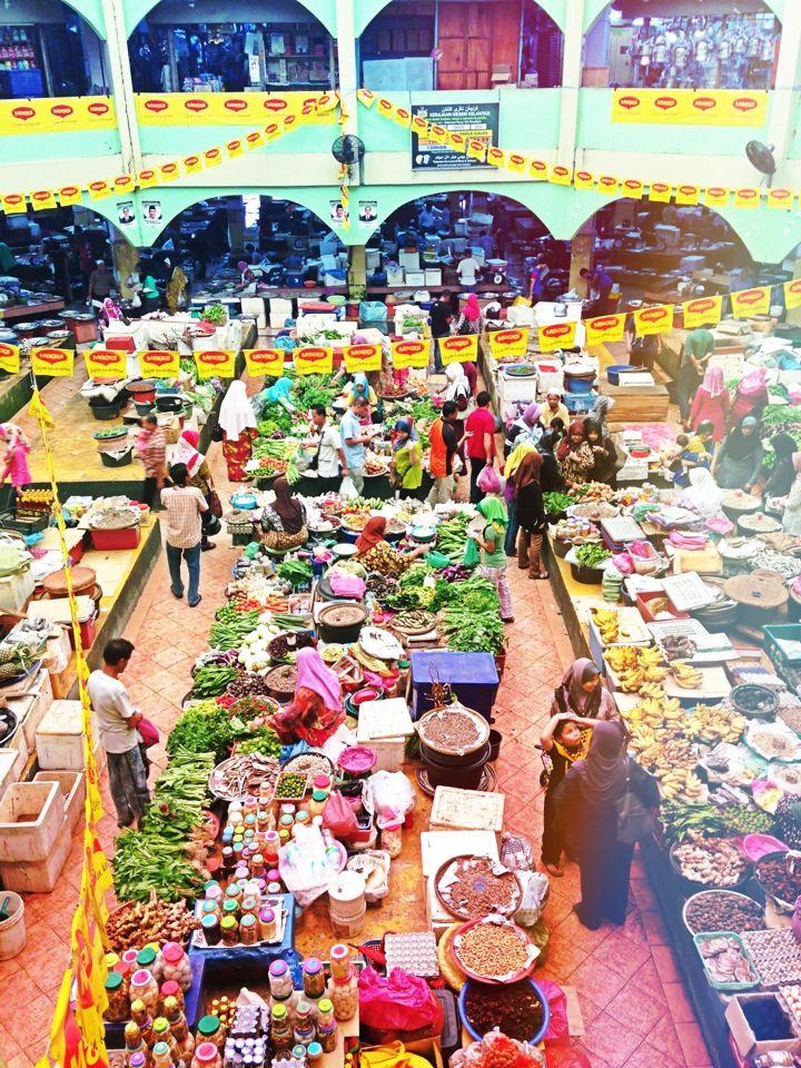 2001 Pasar Besar Siti Khadijah in Kota Bharu, Kelantan, Malaysia