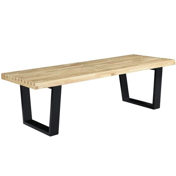 Buy Furniture Online Free Shipping: Buy Modway George Nelson Style Bench In Natural Wood 48