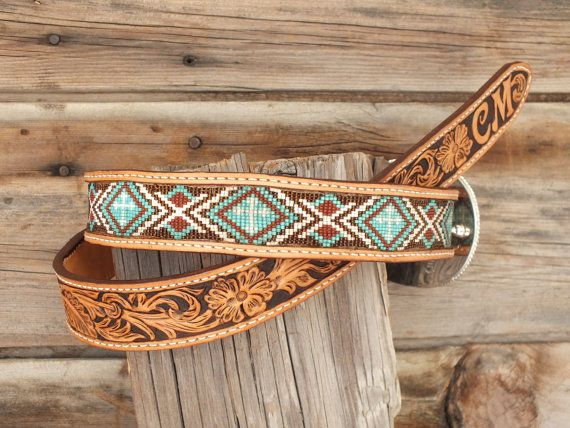 Hey, I found this really awesome Etsy listing at https://www.etsy.com/listing/231978052/leather-inlay-beaded-belt