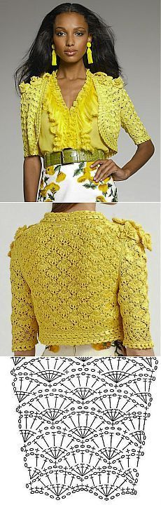 жакет- болеро...many apparel choices, some with diagrams (some with patterns, but NOT in English)...crochet inspiration...