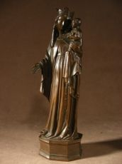 Holy Virgin and the Child. Bronze.19 thC.