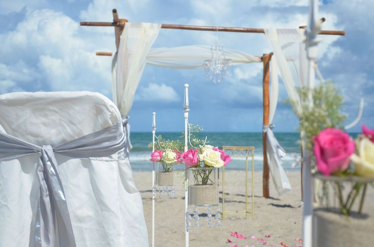 Vintage Beach Wedding Ceremony: 23 Best Beach Ceremony Setups Images On Pinterest