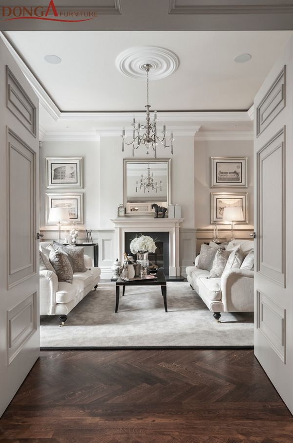 Formal Georgian sitting room and fireplace - clean, classic, white + contemporary