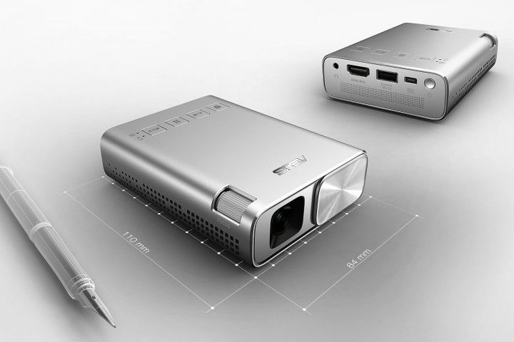 asus brings a usb c monitor  inch curved display and projector to ces zenbeam portable e
