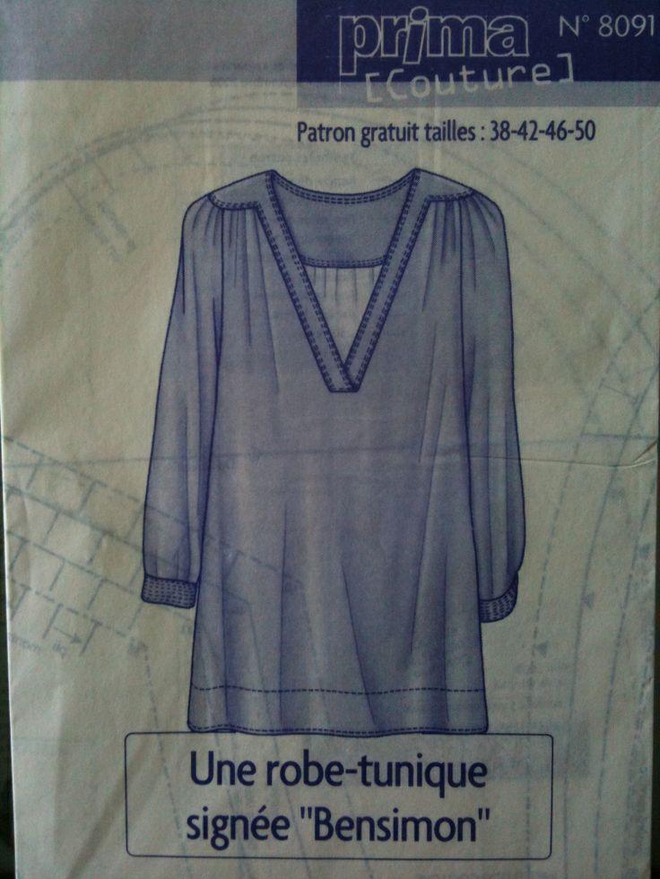 patron couture gratuit tunique
