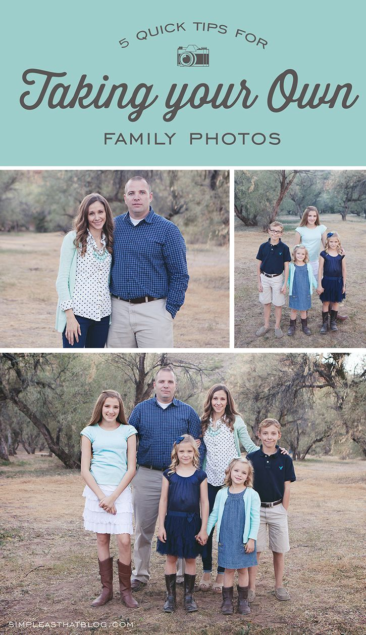 5 quick tips for Taking your own family photos - save time / money this year and get a great shot for your holiday cards!