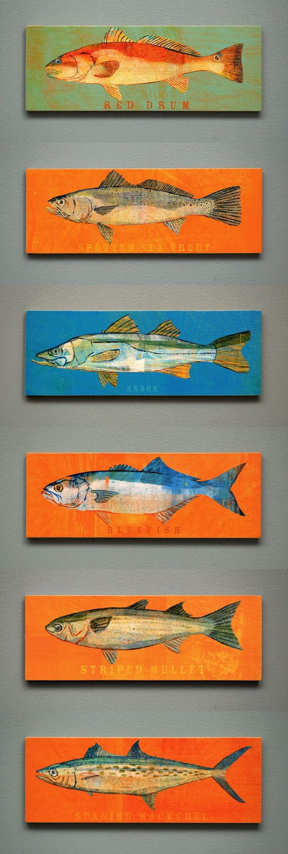 Love this artwork!! Saltwater Fish Series Large Art Block  by johnwgolden, $18.00
