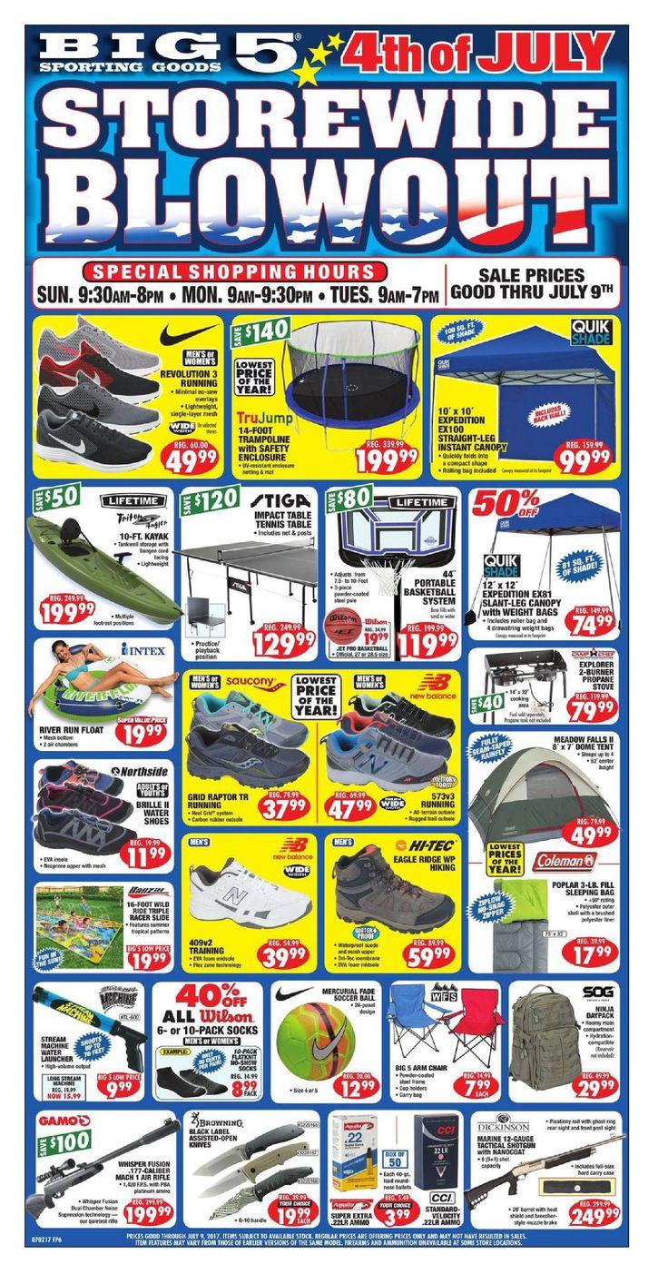 Big 5 Weekly Ad July 2 - 8, 2017 - http://www.olcatalog.com/sports-toys/big-5-weekly-ad.html