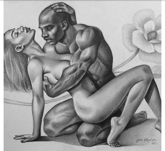Erotic african sculpture are