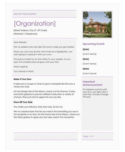 17 Best ideas about School Newsletter Template – School Newsletter Templates