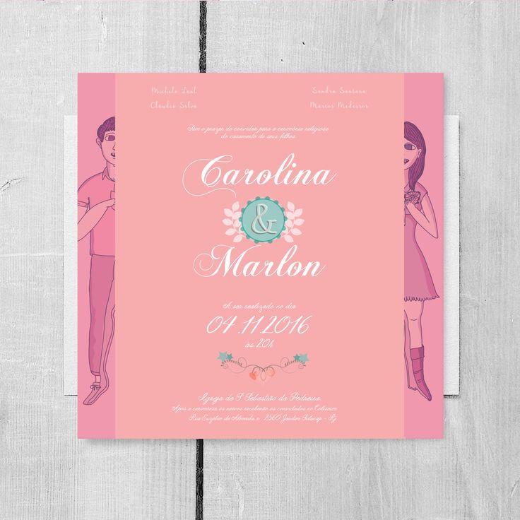 Arte de convite de casamento para baixar, modelos especiais em diversas cores e modelos http://spazioconvites.com.br/