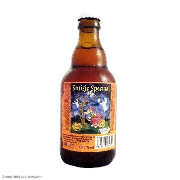 Cerveja t Smisje Speciaal, estilo Pumpkin Ale, produzida por Brouwerij De Regenboog, Bélgica. 10.5% ABV de álcool.