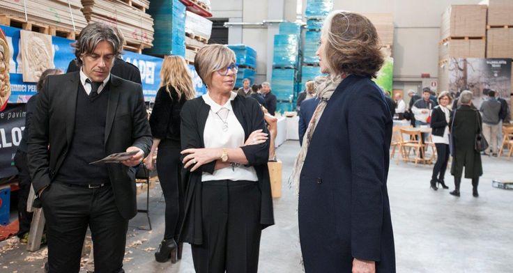 Renza Altoè Garbelotto con Paola Marella e Giorgio Tartaro #parquet #design