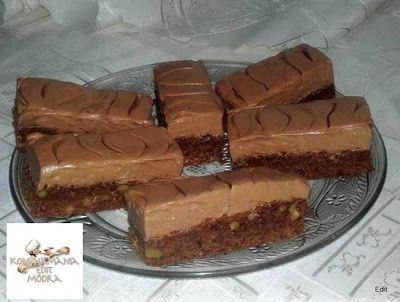 Receptek, és hasznos cikkek oldala: Csokihabos diós szelet