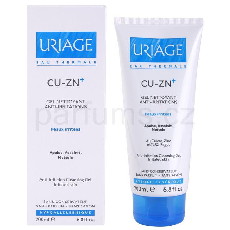 Uriage Cu-Zn+, zklidňující čisticí gel na popraskanou pokožku   parfums.cz