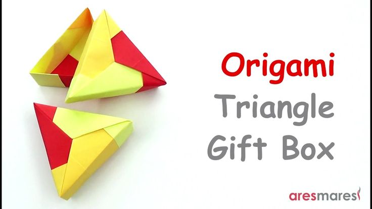 Origami Triangle Gift Box (easy - modular)  Triangles always hides surprises!!! #origami #unitorigami #handmade #colorful #origamiart #papercraft #paperfolding #paperfold #paperart #papiroflexia #origamifolding #instaorigami #interior #instapaper #оригами #折り紙  #ユニット折り紙 #ハンドメイド #カラフル