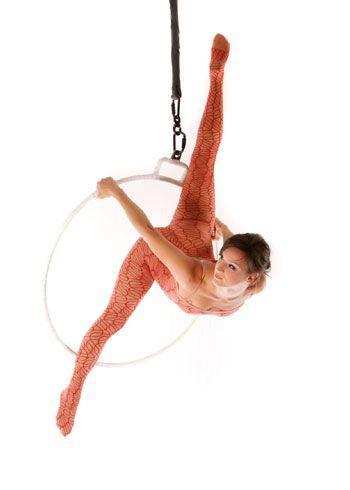 Aerial Hoop performer from France