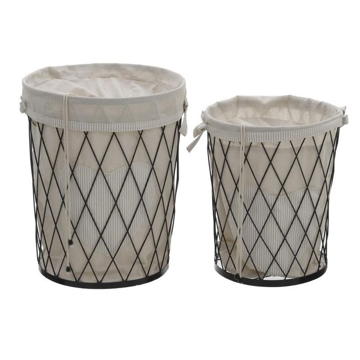 Laundry Basket Set Of 2 Pieces - inart