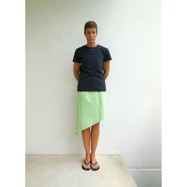 Lime Green T Shirt Skirt Women's T-Shirt Skirt Recycled Tee Skirt... ($30) ❤ liked on Polyvore featuring black, skirts and women's clothing
