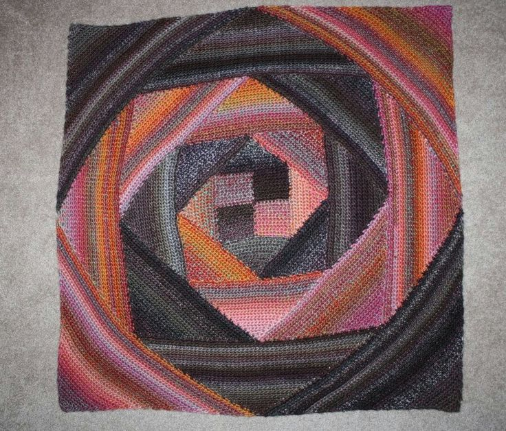 Crochet Pattern For Spiral Blanket