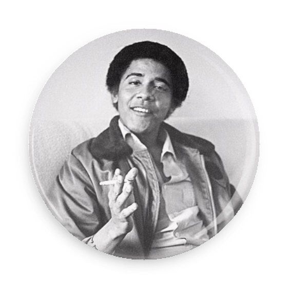 Young Obama Smoking Weed Pin Back Button by bratlife on Etsy https://www.etsy.com/listing/513348341/young-obama-smoking-weed-pin-back-button