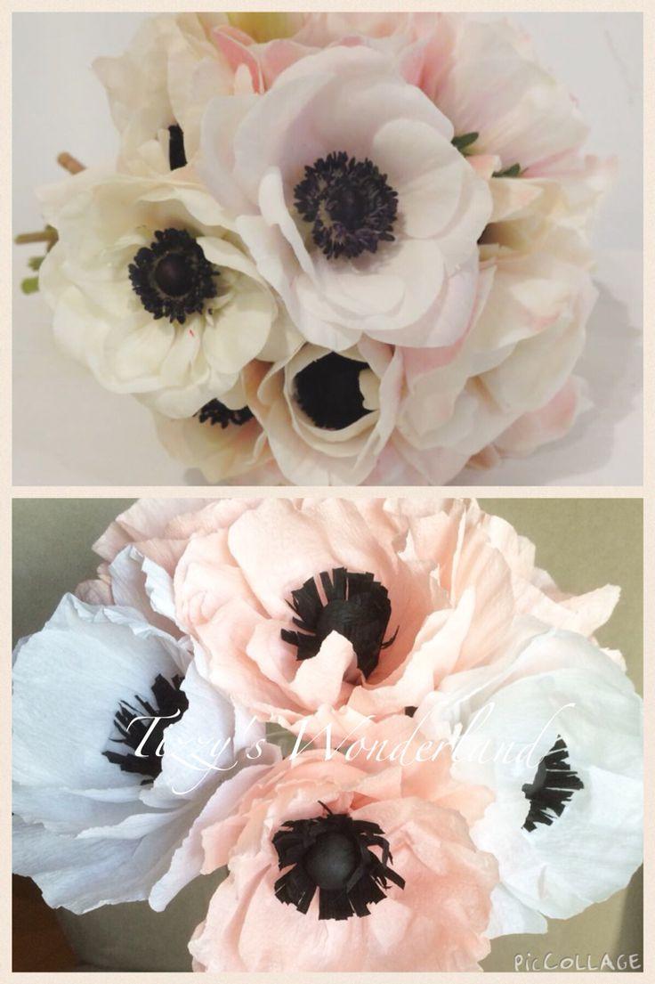 Crepe paper anemones Anemoni in carta crespa!