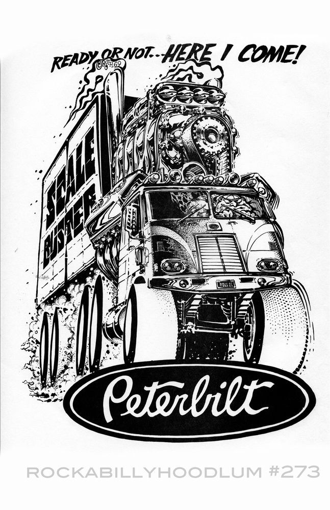 New Hot Rod Poster 11x17 Ed Roth Art Peterbilt Truck Trucker Big Rig Garage