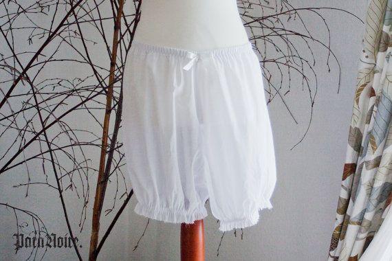 URBAN PIRATE Baumwolle Voile Bloomers (lang) - gothic Lolita / Burleske - in plus Size & Sondergrößen erhältlich