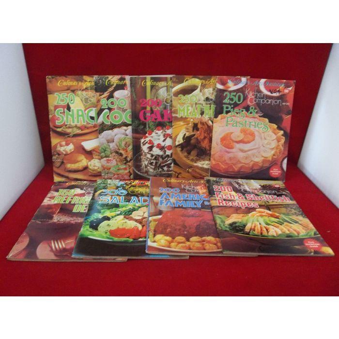 Culinary Arts Institute Kitchen Companion Series 2201-2209 Vintage 1975 Cookbook Lot  #CulinaryArtsInstitute #Kitchen #Companion #Cookbooks #Booklets #Vintage #Cooking #eBid