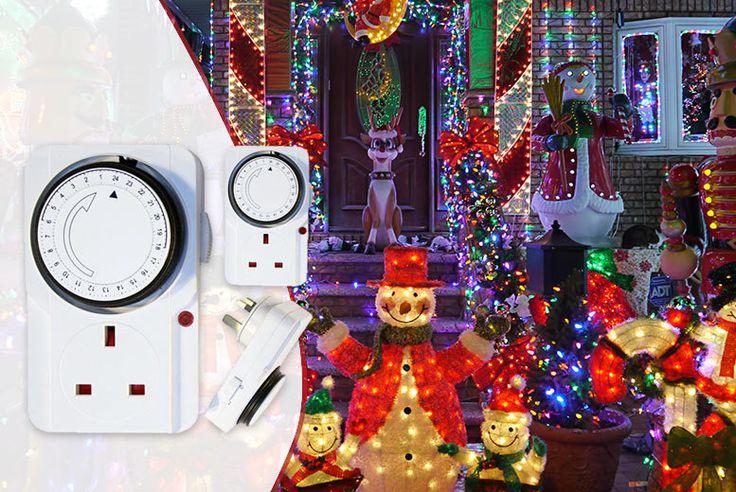 24hr Energy Saving Timer Plug - 3-Pack!