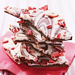 A wonderful Christmas gift from the kitchen, this chocolate and peppermint candy is simply delicious. For easy cleanup, line the baking sheet with foil.