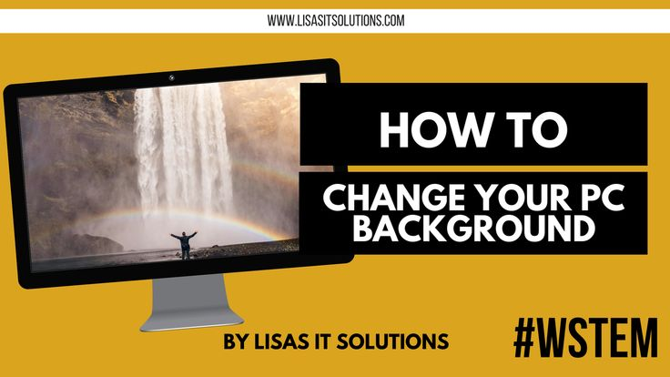 In todays video 'How to change your Windows background' I am talking through a simple way to change your desktop background on Windows 10.