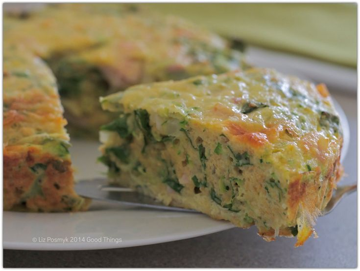 Spinach and zucchini frittata by Liz Posmyk Good Things