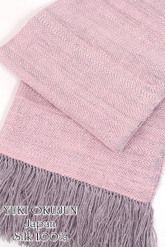 【奥順】真綿ショール「結城紬コンフォートショール」朝焼け/ピンク系和装ショール着物ショール「日本製」大判