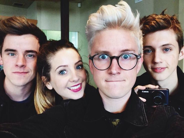 Connor Franta, Zoe Sugg, Tyler Oakley, and Troye Sivan