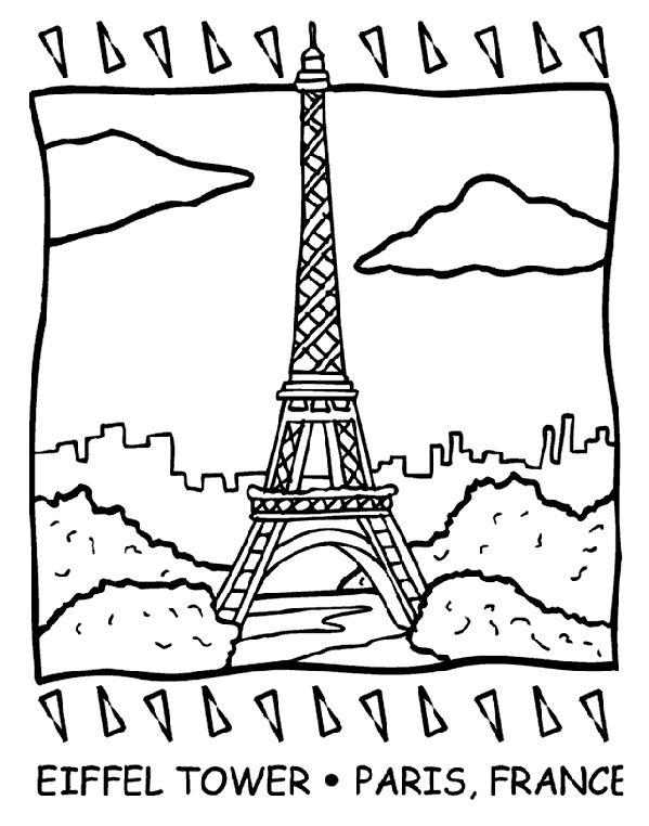 Berühmt Eiffelturm Paris Druckbare Malvorlagen Zeitgenössisch ...