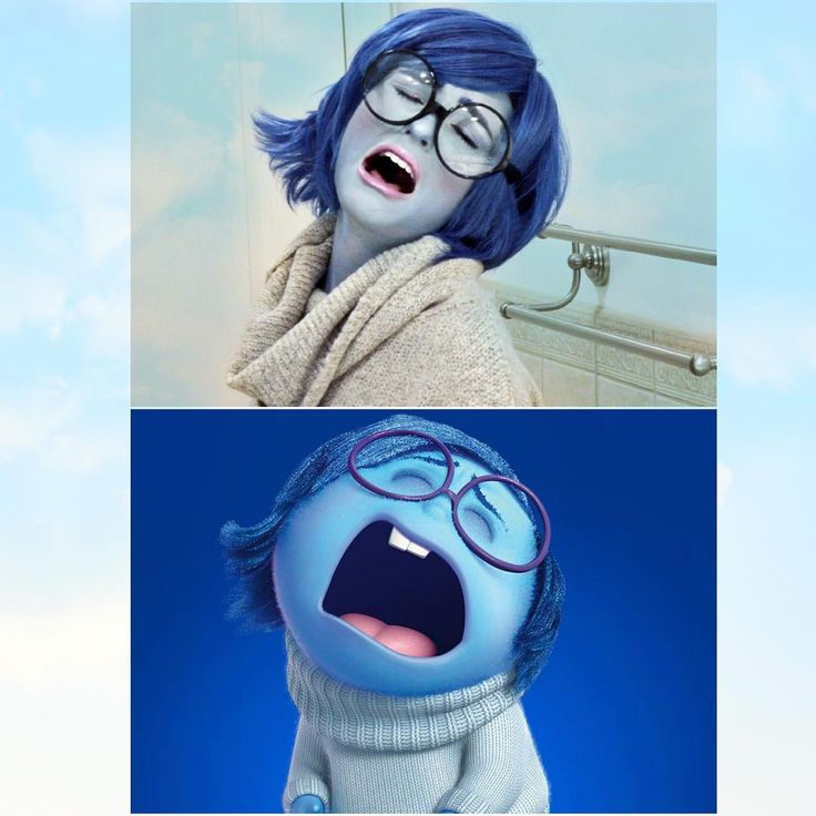 Dress up as Sadness from Disney Pixar's Inside Out by following this DIY Halloween costume tutorial.