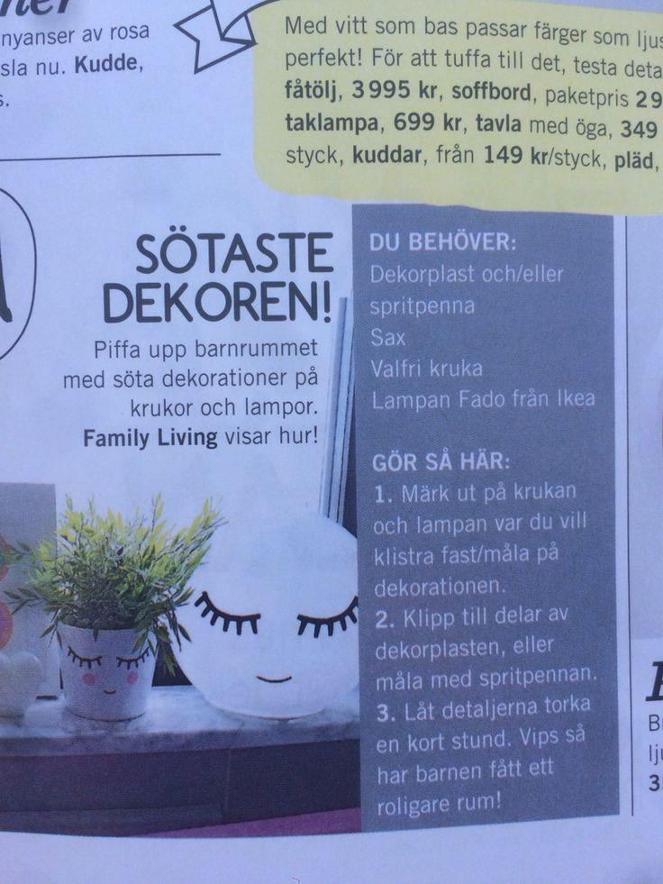 DIY med Ikea lampa
