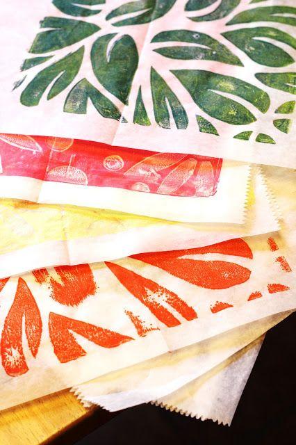 DIY foam stamp printmaking