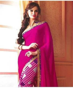 Georgette Saree with Blouse   I found an amazing deal at fashionandyou.com and I bet you'll love it too. Check it out!