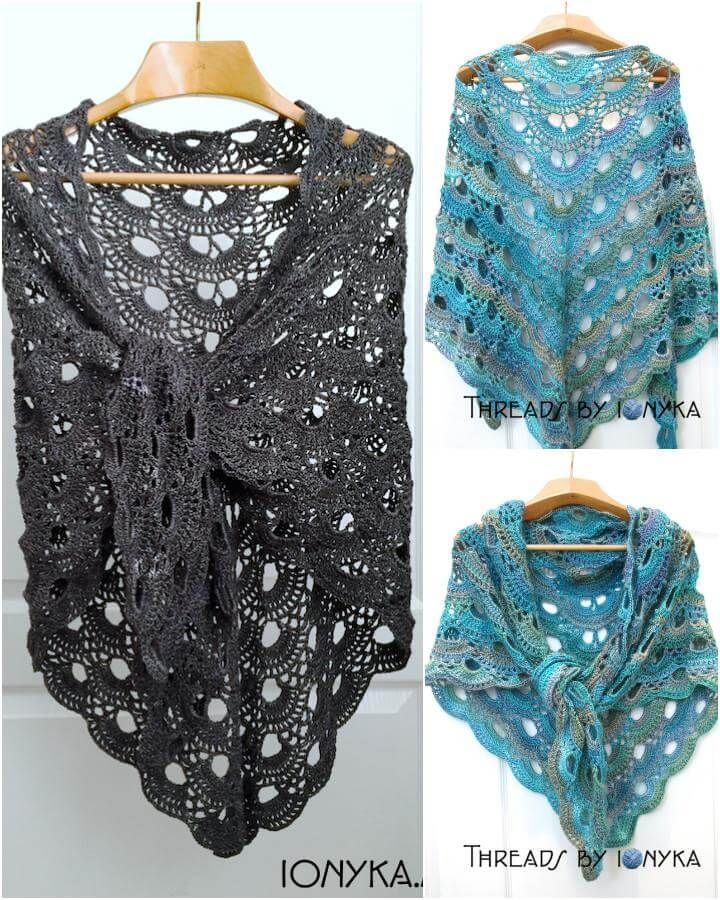 10 Free Crochet Shawl Patterns For Womens Crochet Bufandas