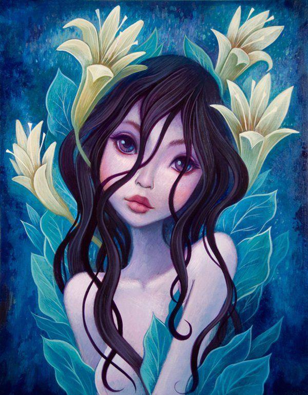 Lilies - Whimsical Paintings by Jeremiah Ketner  <3 <3