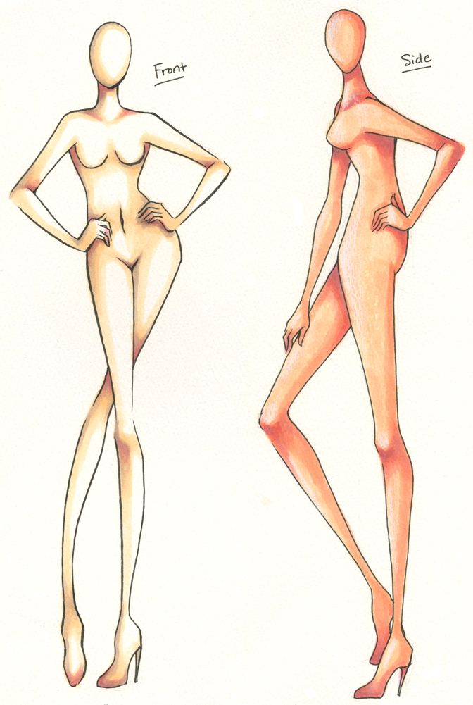 DHE 321: Front + Side Croquis by =ember-snow on deviantART