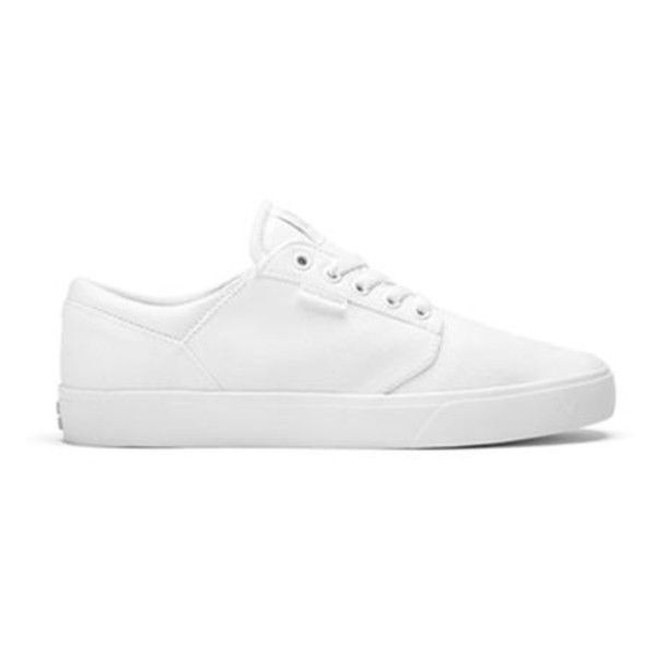 White Supra Yorek Trainers (185.235 COP) ❤ liked on Polyvore featuring shoes, sneakers, supra footwear, white sneakers, supra shoes, white shoes and supra sneakers